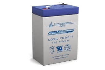 Power Sonic 6V 4.5Amp Sla Battery
