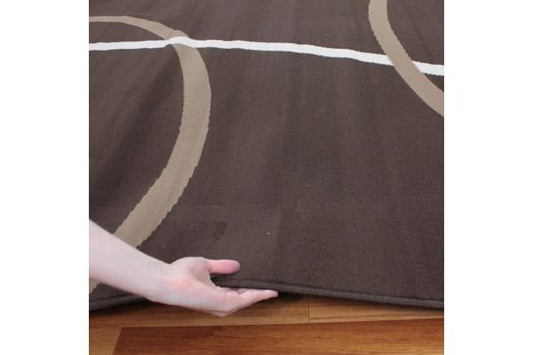 Modern Rug Brown Beige Cream 330x240cm
