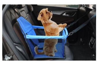 Blue Pet Car Booster Seat Puppy Cat Dog Auto Carrier