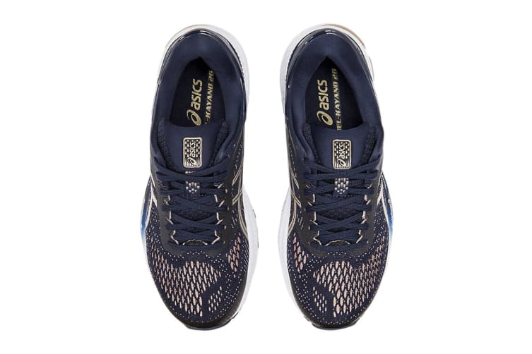 ASICS Women's Gel-Kayano 26 Running Shoe (Midnight/Frosted Almond, Size  8 US)