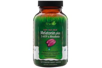 Irwin Naturals, Melatonin Plus, 5-HTP & Rhodiola, 54 Liquid Soft-Gels