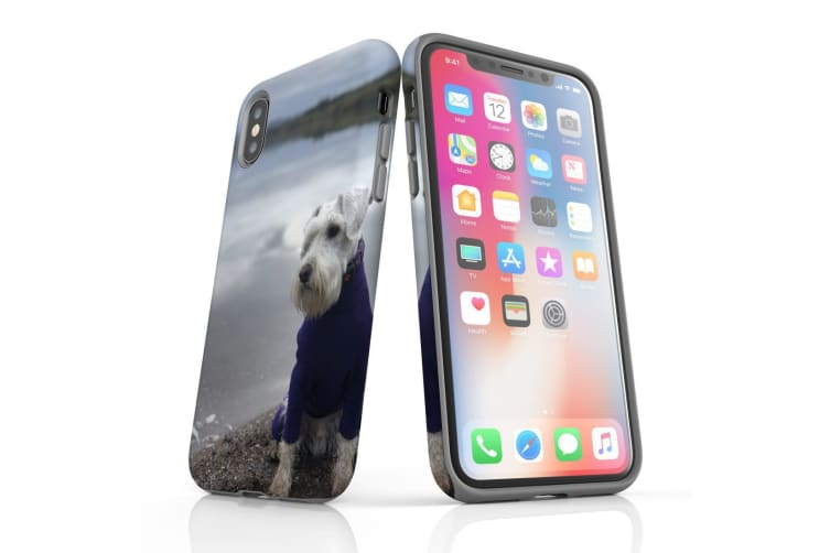For iPhone XS Case  Protective Back Cover  Serene Schnauzer