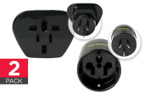 Korjo 2 Pack Reverse Adapter (Europe & US to Australia/NZ and Worldwide to Australia/NZ)