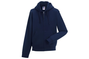 Russell Mens Authentic Full Zip Hooded Sweatshirt / Hoodie (French Navy) (L)