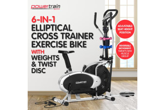 Powertrain Elliptical Cross Trainer Exercise Bike Weight Disc