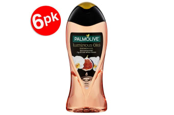 6x Palmolive Luminous Fig Oil w/Orchid 400ml Women Rejuvenating Bath Shower Gel