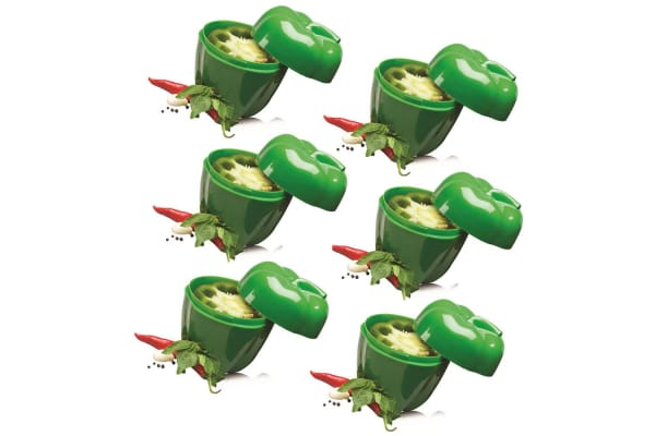 6pc Avanti Capsicum Saver Fresh Food Vegetables Fruits Home Kitchen Tool Green
