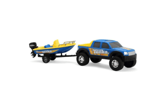 Tonka 4 x 4 Off Roader Hauler with Boat