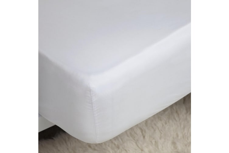 Belledorm 400 Thread Count Egyptian Cotton Ultra Deep Fitted Sheet (White) (Kingsize)