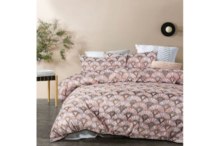 Priya Pink Quilt Cover Set King