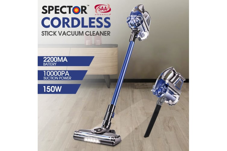 Spector Handheld Vacuum Cleaner Cordless Stick Vac Bagless LED Recharge 150W New