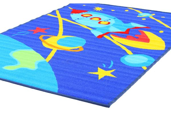 Kids Non Slip Outer Space Rug 150x100cm