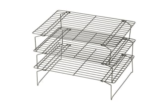 Davis And Waddell Black Non Stick 3 Tier Cooling Rack 34 X 26cm