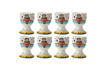 8pc Maxwell & Williams Smile Style Egg Cup Holder Hard Boiled Stand Set Boobook