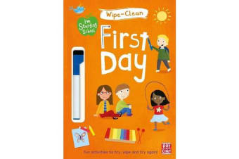 I'm Starting School: First Day - Wipe-clean book with pen