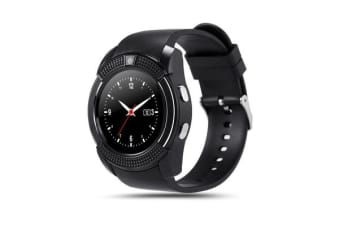"TODO Bluetooth V3.0 Smart Watch 1.22"" Hd Lcd Rechargeable 3Mp Camera - Black"