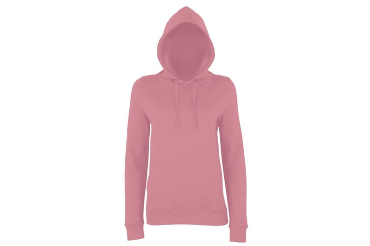 AWDis Just Hoods Womens/Ladies Girlie College Pullover Hoodie (Dusty Pink) (XS)