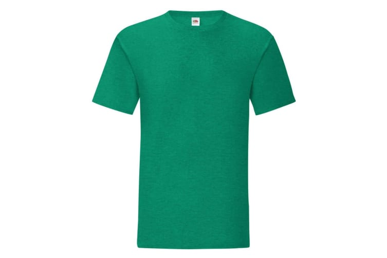 Fruit Of The Loom Mens Iconic T-Shirt (Heather Green) (3XL)