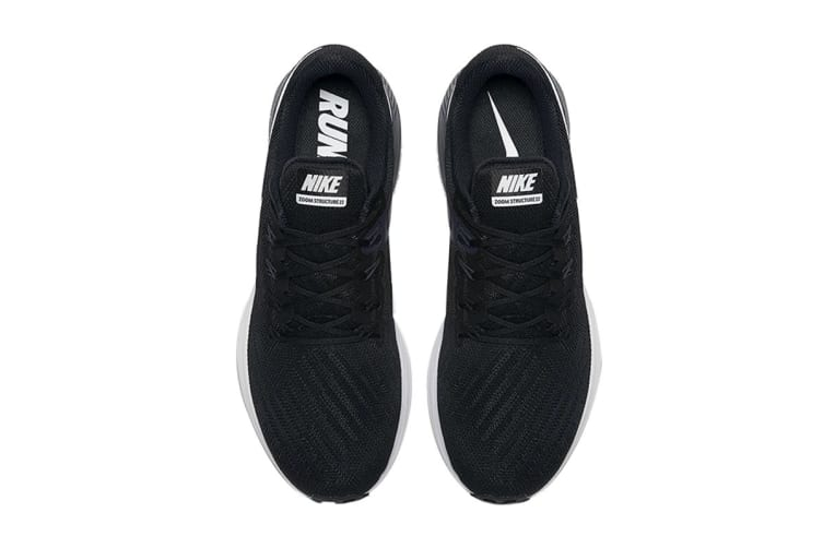 Nike Men's Air Zoom Structure 22 Shoes (Black/White, Size 9.5 US)