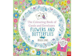 National Trust - The Colouring Book of Cards and Envelopes - Flowers and Butterflies