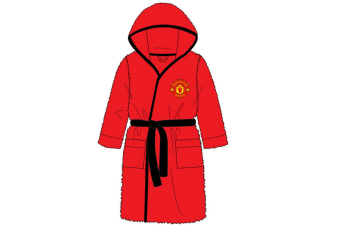 Manchester United FC Childrens/Kids Bath Robe (Red) (3-4 Years)