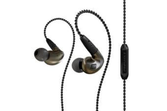 Mee Audio Pinnacle P1 In-Ear Monitors - Black - High-fidelity Audiophile In-Ear Headphones with