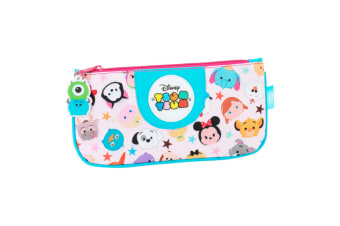 Disney Childrens/Girls Official Tsum Tsum Flat Pencil Case (Multicoloured) (One Size)