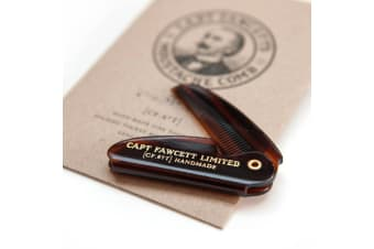 Capt Fawcett's Folding Mens Moustache Comb