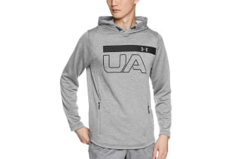 Under Armour Men's MK-1 Tech Terry Graphic Hoodie (Grey, Size Large)