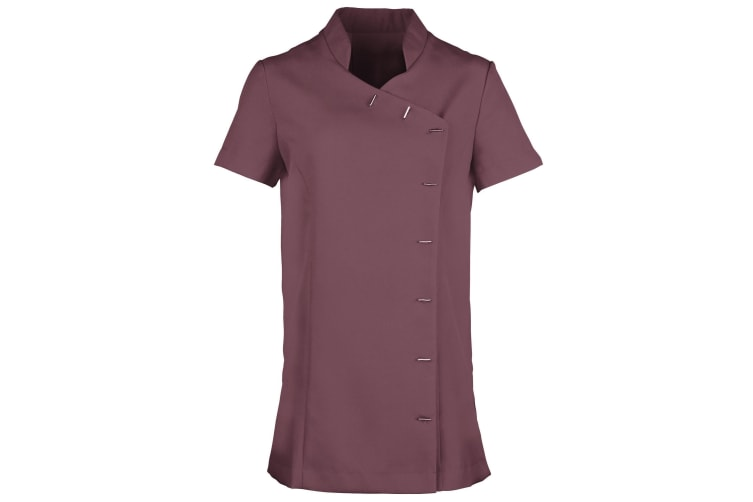 Premier Womens/Ladies *Orchid* Tunic / Health Beauty & Spa / Workwear (Pack of 2) (Aubergine) (16)