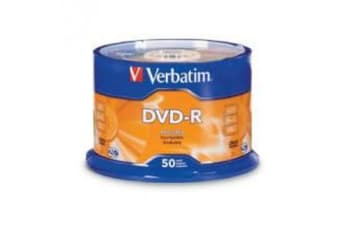 Verbatim DVD-R4.7GB 16x 50Pk White Wide Thermal (Gloss), Spindle