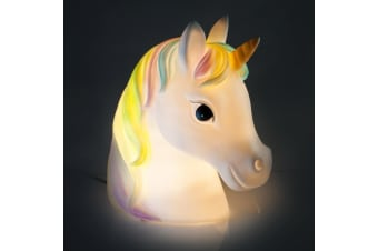 Rainbow Unicorn Night Light Lamp | Mains Powered | LED Globe