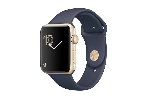 Apple Watch Series 2 (Gold, Aluminium, 42mm, Sports Midnight Blue)
