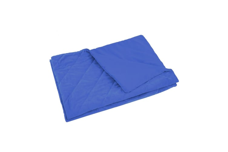DreamZ 121x91cm Anti Anxiety Weighted Blanket Blankets Bamboo Cover Only Blue Sea/Grey/Blue/Dark Pink/Mink/Purple