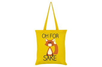 Grindstore Oh For Fox Sake Tote Bag (Yellow)