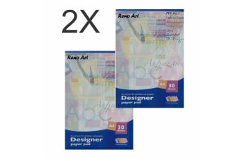 60 Sheets A4 Designer Paper Pad Notebook Overlays Drawing painting 5 colour