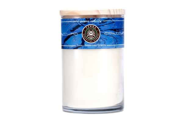 Terra Essential Scents Hand-Poured Soy Candle - Winter Solstice (12oz)