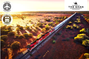 The Ghan – 6 Day Luxury Rail Package from Darwin to Adelaide Including Flights for Two