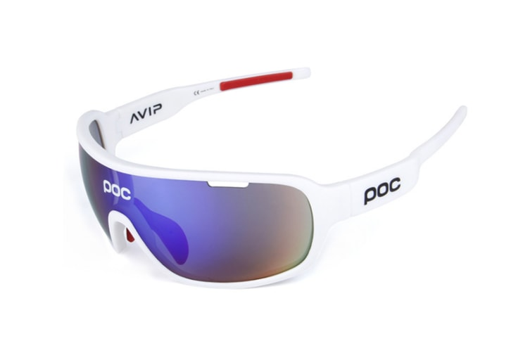Outdoor Polarizing Glasses For Men And Women Sports Cycling Glasses 5-Piece Suit - 2 White 5Pcs