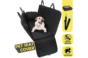 Waterproof Dog Car Seat Cover Hammock Mat with Fabric Bowl