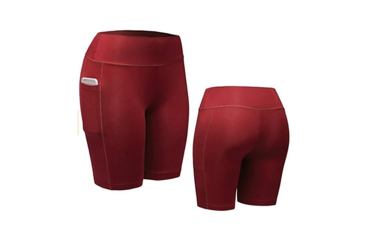 Women Performance Compression Shorts with Pocket XXL