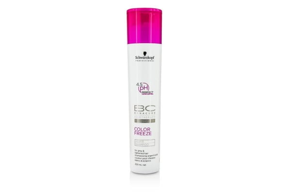Schwarzkopf BC Color Freeze pH 4.5 Silver Shampoo (For Grey & Lightened Hair) (250ml/8.4oz)