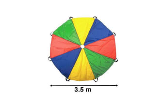 Outdoor Rainbow Parachute Exercise Game