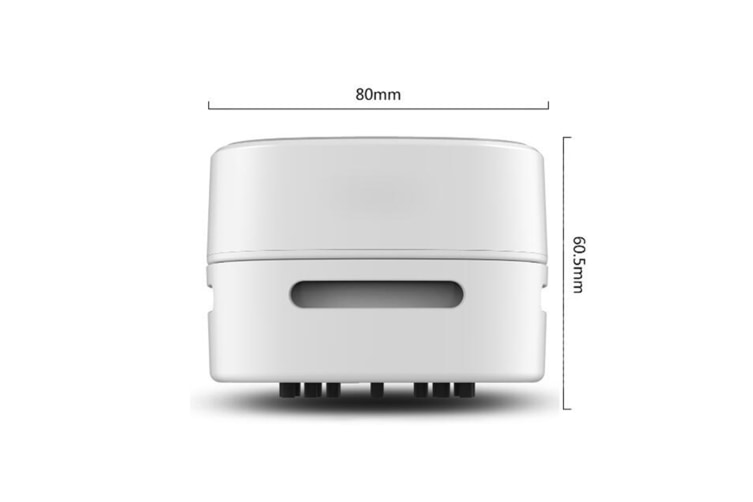 Select Mall Small Hand-Held Sweeper Robot Exotic Creative Gift Desktop Vacuum Cleaner-WHITE