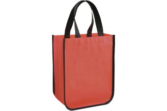 Bullet Acolla Small Laminated Shopper Tote (Pack of 2) (Red) (24 x 11.5 x 30 cm)