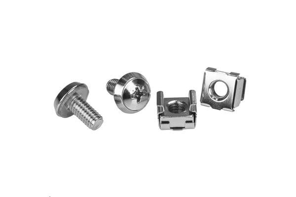 STARTECH CABSCREWM62 100 Pkg M6 Mounting Screws and Cage Nuts