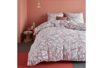 Octorber Leaf Nude Cotton Percale Quilt Cover Set by Bedding House
