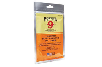 Hoppe's Treated Gun Cleaning Patches For 270- 35cal 120pcs #1199