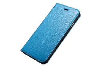For iPhone 6S 6 Case Fashion Elegant Durable Genuine Lychee Leather Cover Blue