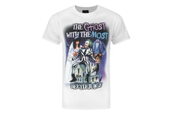 Beetlejuice Mens Ghost With The Most T-Shirt (White)